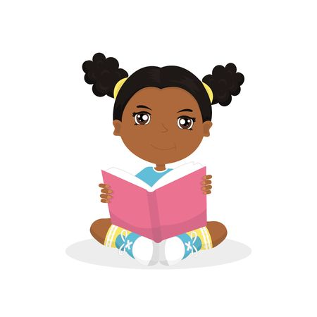 103 African American Kids Reading Book Stock Vector Illustration And.
