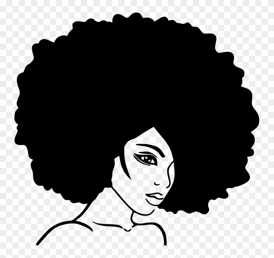 Wall Decal Sticker Beauty Parlour Afro.