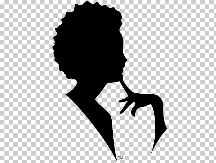 Silhouette , Afro Puffs PNG clipart.