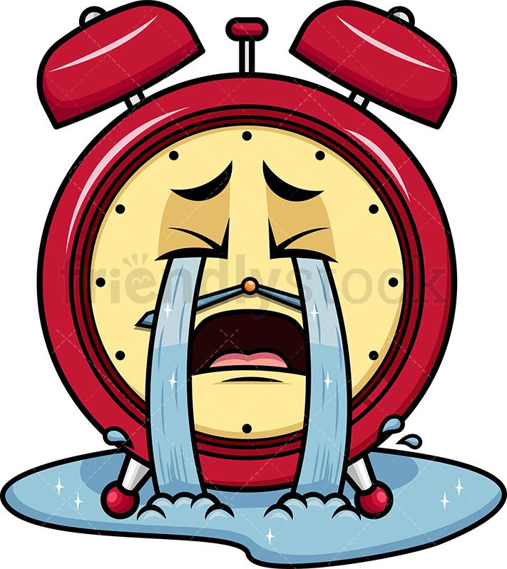 Crying Out Loud Alarm Clock Emoji.