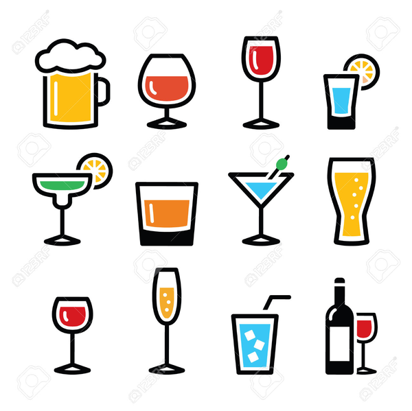 Free Clipart Of Alcoholic Drinks.