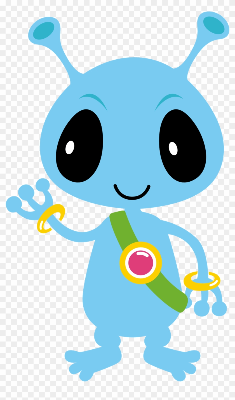 Monster Clipart Cute Alien Spaceship.
