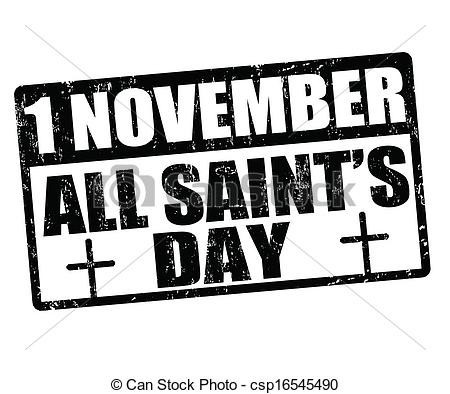 All Saints Day Stamp Drawing Csp16545490 Clip Art In Sunday Clipart.