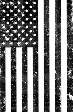 American Flag Black And White Vintage Clipart.