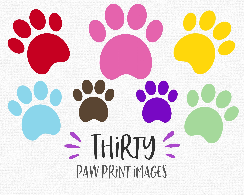 Paw prints clipart, dog prints, animal, paws, bear, rainbow, clipart,  clip.