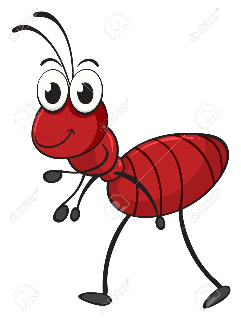 An ant illustration of an ant on a clipart.