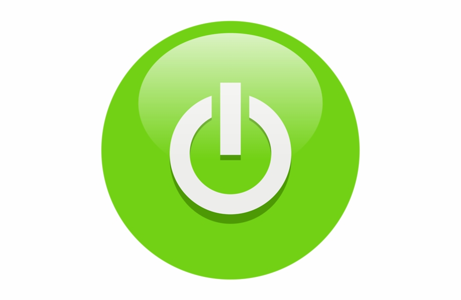 Green Power Button Clip Art.