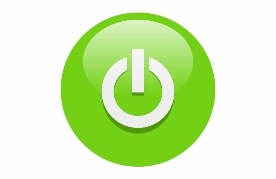 Green Power Button Clip Art.