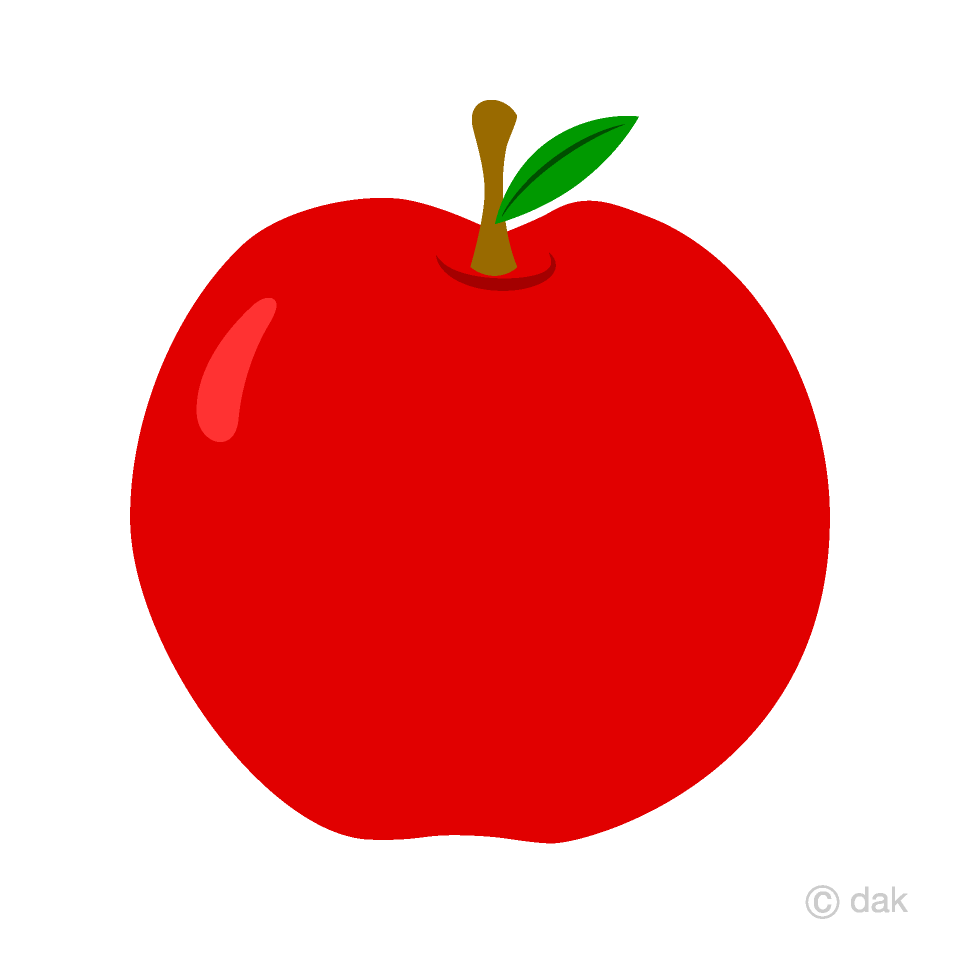 Simple Red Apple Clipart Free Picture|Illustoon.