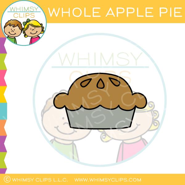 Whole Apple Pie Clip Art.