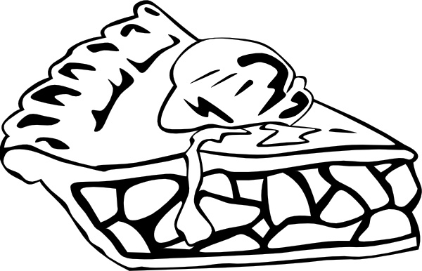Apple Pie (b And W) clip art Free vector in Open office drawing svg.
