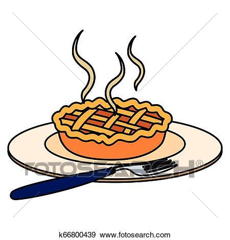 Apple pie icon Clip Art.