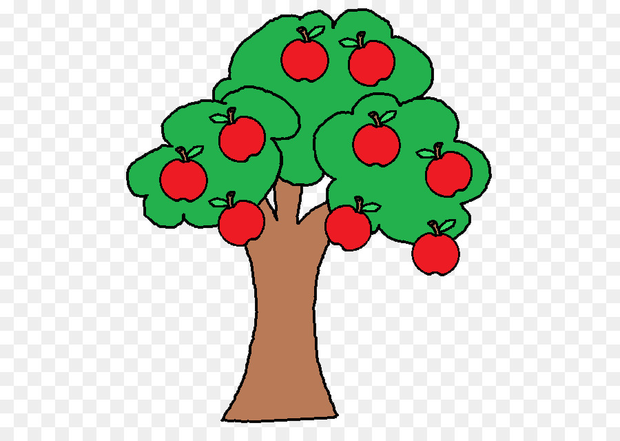 Apple Tree Drawing png download.