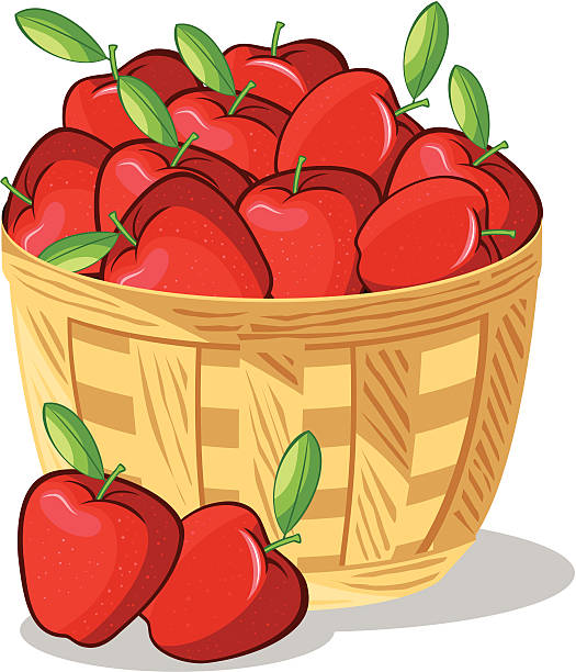 Best Basket Of Apples Illustrations, Royalty.