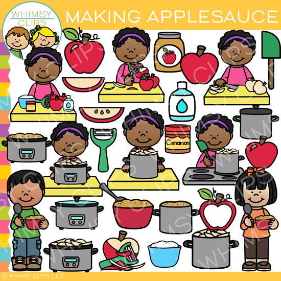 How to Make Applesauce Clip Art.
