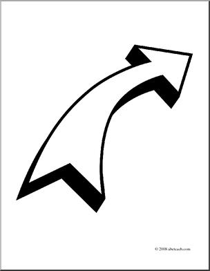 Clip Art: Arrow Curved Right.