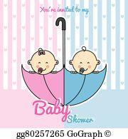 Twin Babies Clip Art.