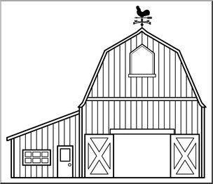 Clip Art: Barn B&W I abcteach.com.