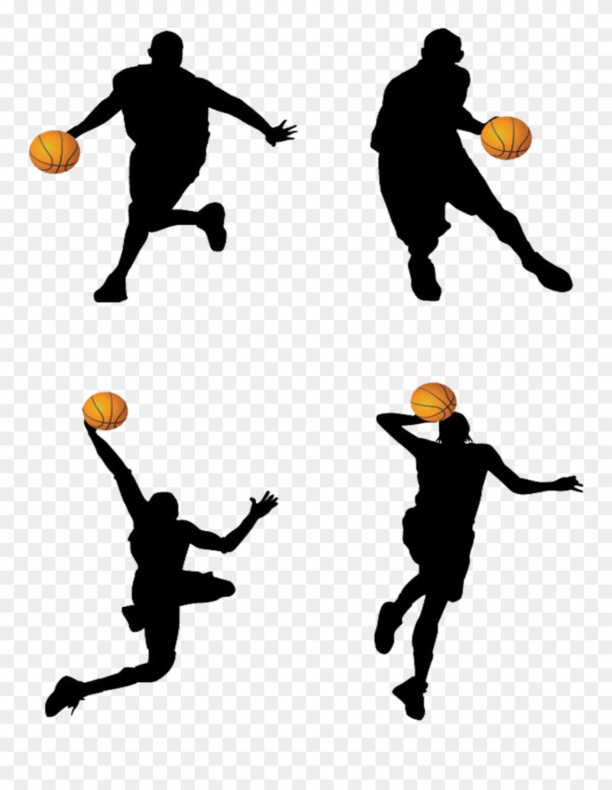 Basketball Player Backboard Clip Art.
