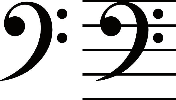 Best Bass Clef Illustrations, Royalty.