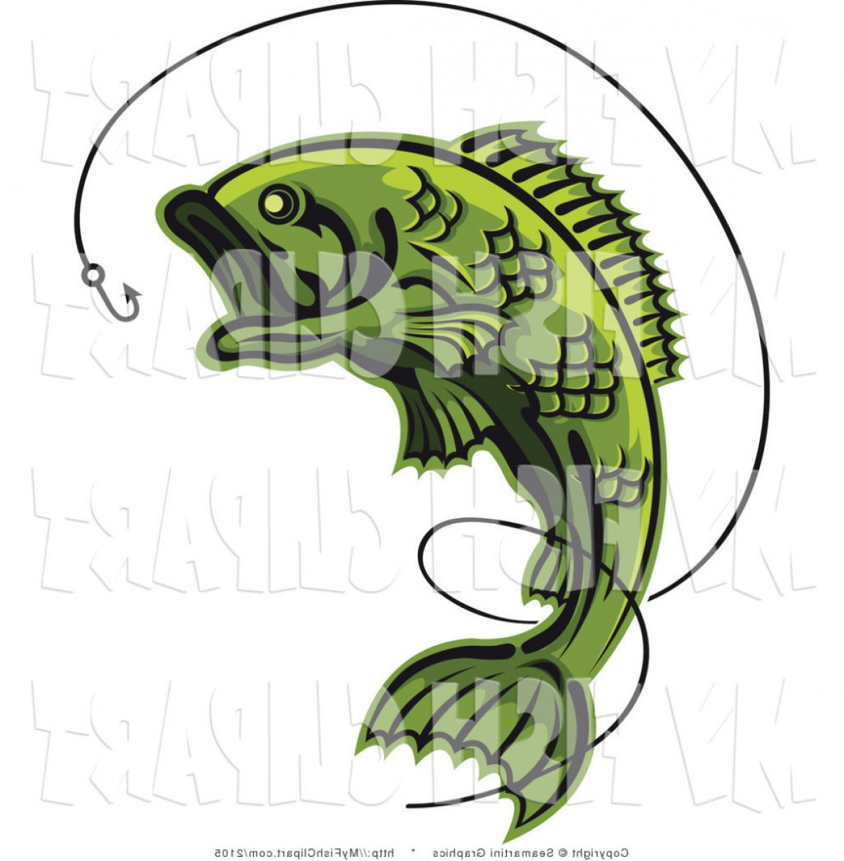 Bass Fish Vector Art.