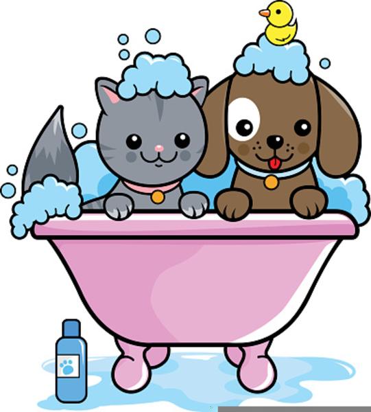 Free Dog Bath Clipart.