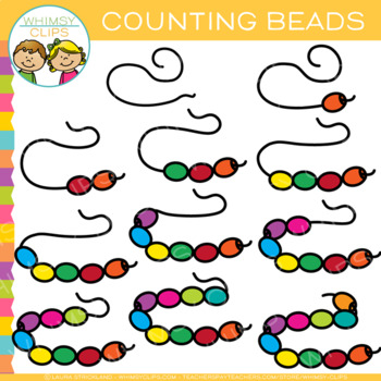 Bead Counting Clip Art by Whimsy Clips.