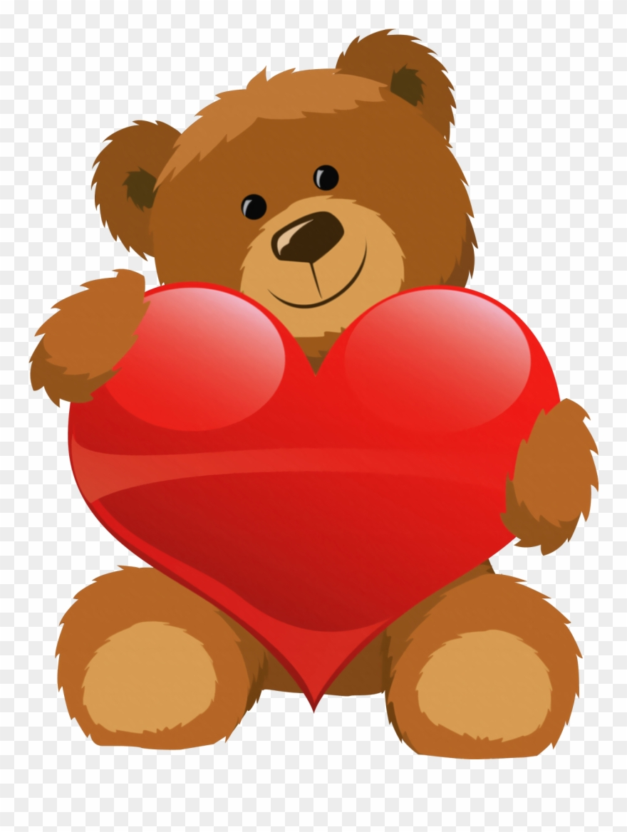 Cute Bear With Heart Png Clipart Pictureu200b Gallery.