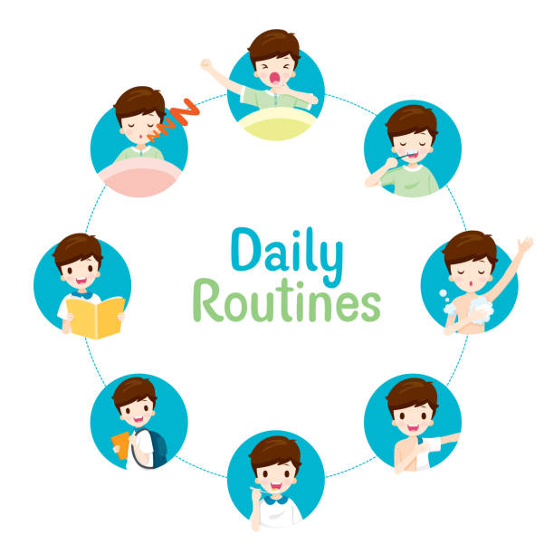 Best Bedtime Routine Illustrations, Royalty.
