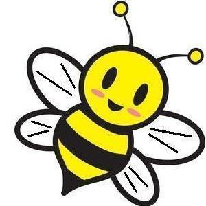 Bee clip art hostted.