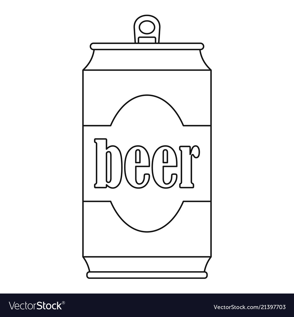 Beer can icon outline style.