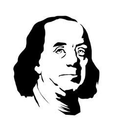 Download benjamin franklin black and white clipart Benjamin Franklin.