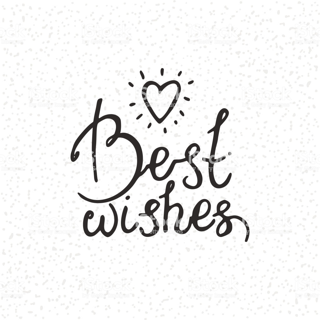 Best Wishes Congratulation Card Handwritten Modern Brush Lettering.