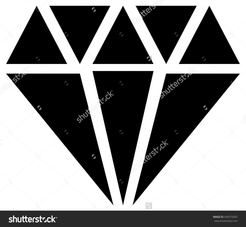 Simple Diamond Jewelry Sign Symbol Precious Stock Vector 439275007.