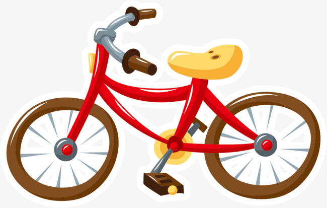 Red Bike, Bicycle, Red, Brown Wheel PNG Image and Clipart for Free.
