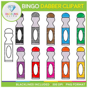 Bingo Dabber (Dauber) Clip Art.