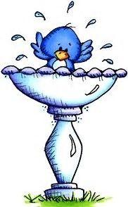 Image result for Cute Bird Clip Art in birdbath.