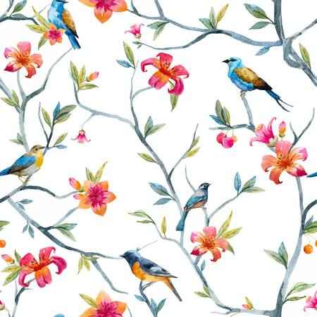 95,282 Birds And Flowers Stock Illustrations, Cliparts And Royalty.