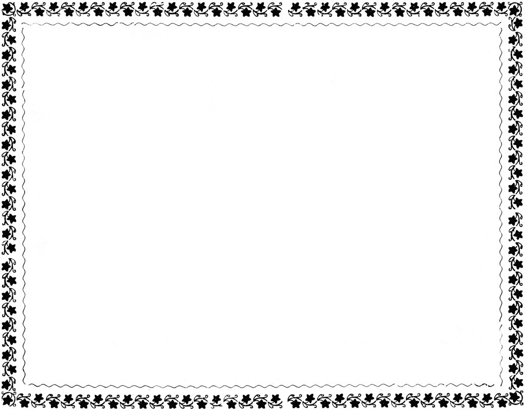 Flower Border Clipart Black And White.