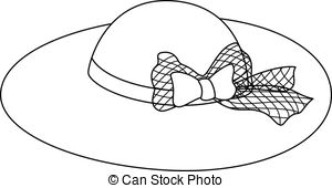Black and white hat clipart.