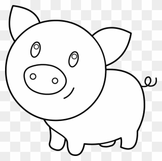 Free PNG Pig Black And White Clip Art Download.