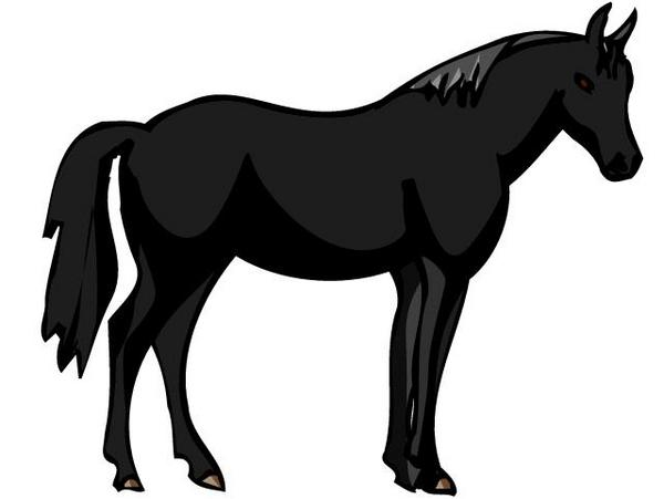 Horse Clipart Black and White.
