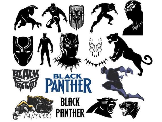 Black Panther svg, dxf, png, eps, pdf, SVG, silhouette, cut files, cricut  files, clipart, Black Panther, Instant Download.