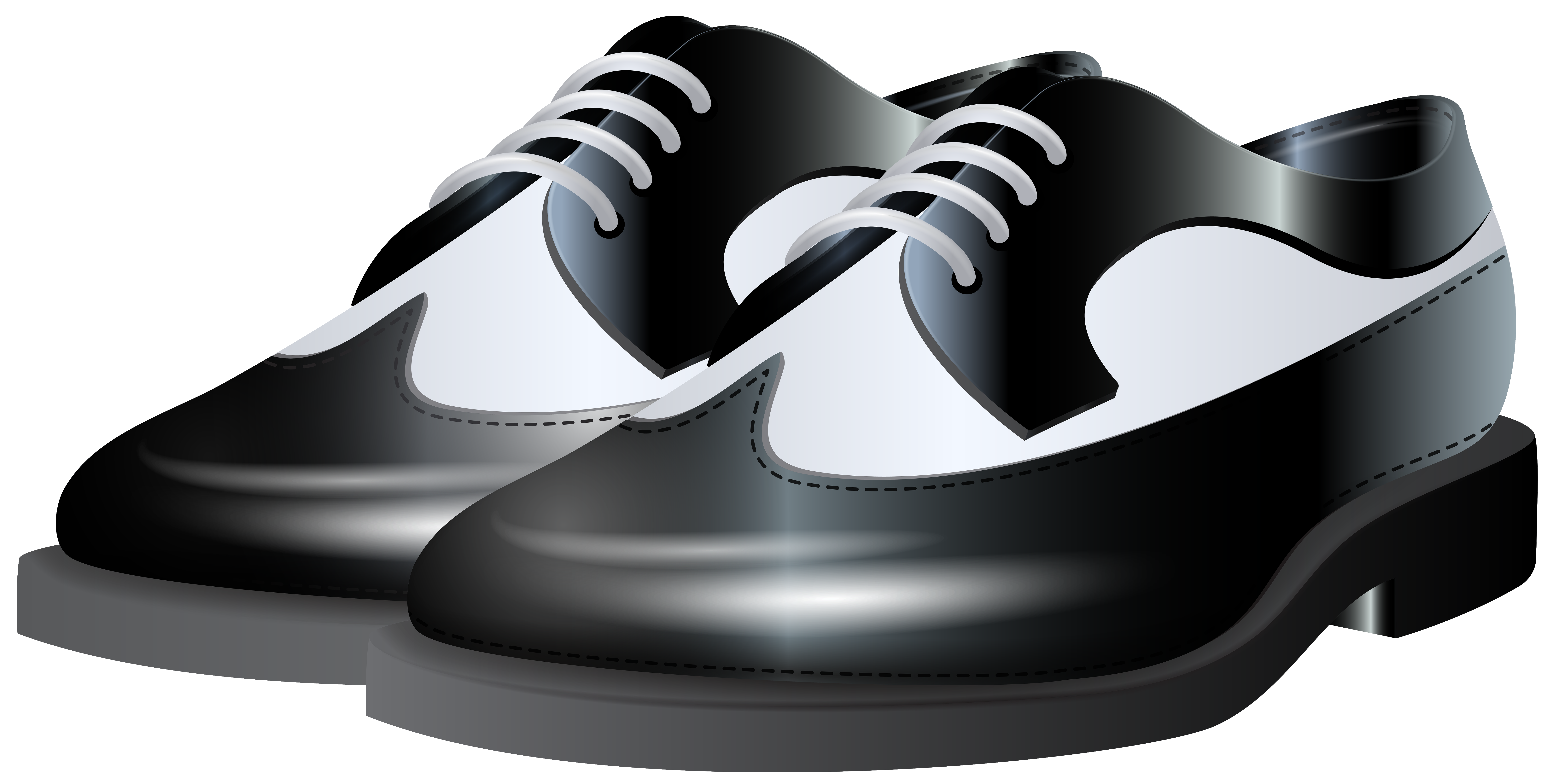Black and White Shoes NG Clip Art.