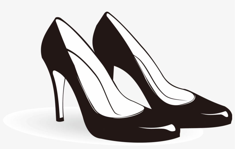 Picture Free Heeled Footwear Sneakers Clip Art Black.
