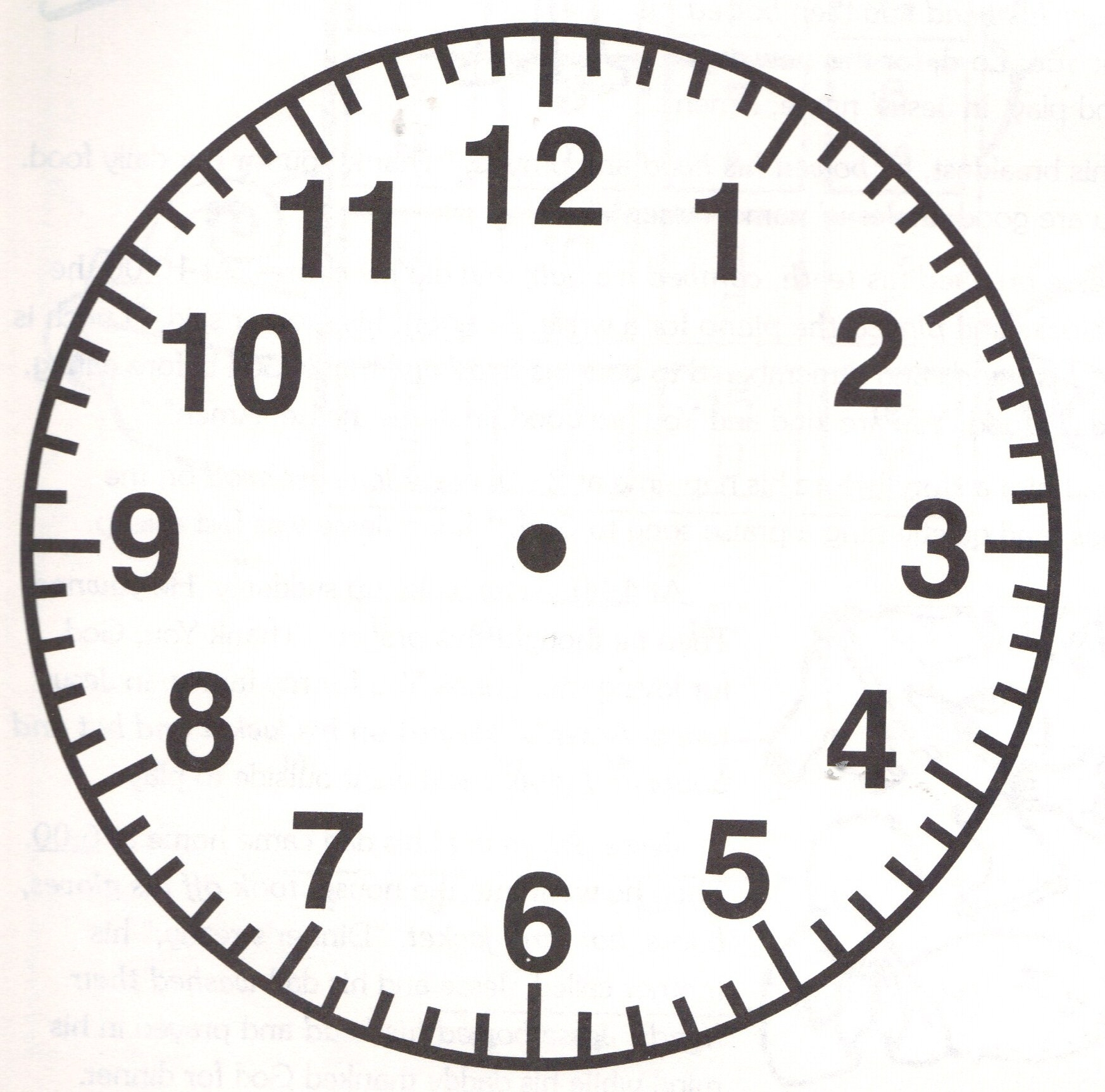 Clock Clipart Black And White Without Hands.
