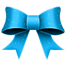 Christmas Blue Ribbon Icon, PNG ClipArt Image.
