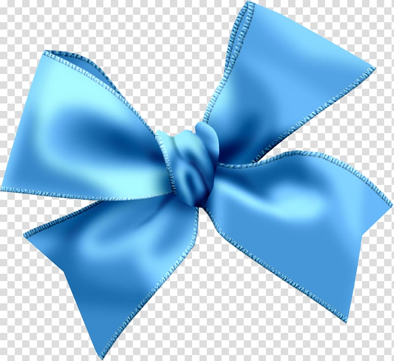 Blue ribbon bow , Light blue , Sky Blue Bow transparent background.