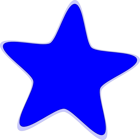 Blue Star Clip Art at Clker.com.