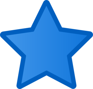 Blue Star PNG, SVG Clip art for Web.